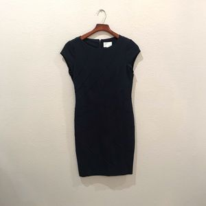 Navy blue body con dress size 6